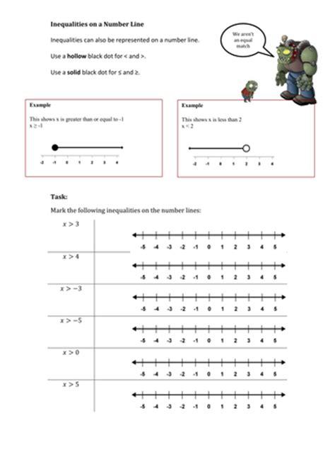 inequalities worksheets by mej teaching resources