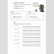 Inequalities Worksheets By Mej  Teaching Resources Tes