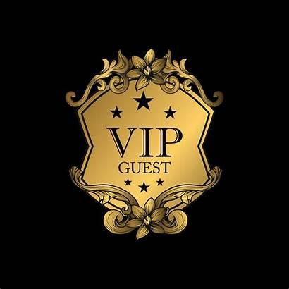 Vip Guest Luxury Emblem Golden Icon Badge