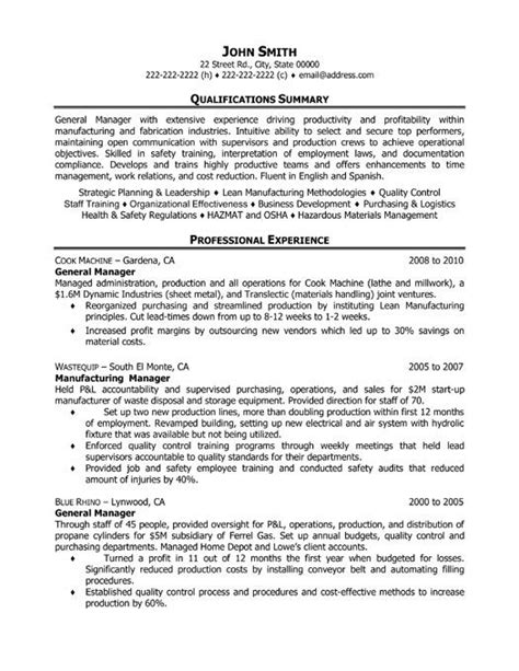 General Manager Resume Word Template by Resume Templates Resume And Templates On