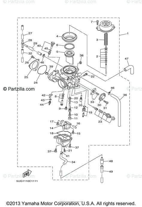 yamaha side by side 2007 oem parts diagram for carburetor partzilla com