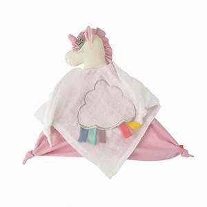 Doudou Licorne Bebe : doudou lange coton organic licorne gots jouets pour b b creavea ~ Teatrodelosmanantiales.com Idées de Décoration