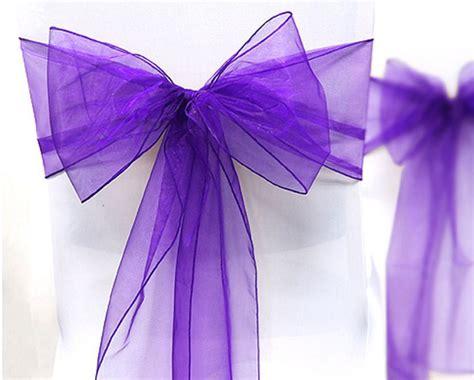 noeud de chaise violet noeud de chaise organza coloris violet anyflowers fr
