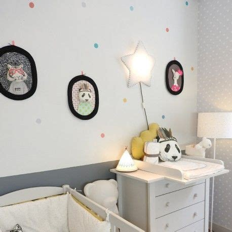 le pour chambre bébé sticker quot pois smile quot nanelle made in multicolore