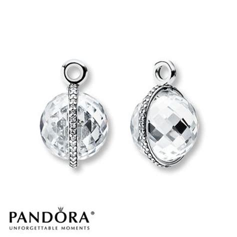 pandora earrings charms  silver  pinterest