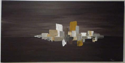 peinture acrylique moderne au couteau tons chauds peintures par terreco