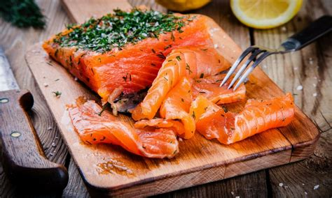 saumon gravlax poissons  fruits de mer marches