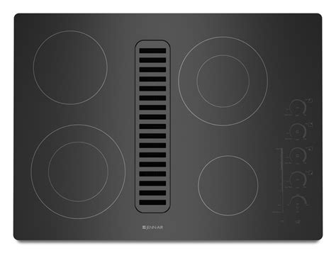 electric radiant downdraft cooktop  electronic touch control