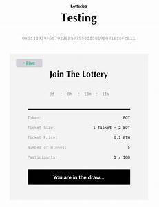 Bounce Lottery  User Guide   At Bounce Finance  We Keep