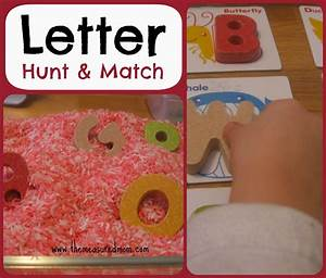 letter hunt match a whole alphabet activity for With letter games for toddlers