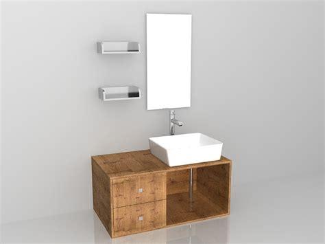 Rustic Bathroom Vanity Sets by Rustic Bathroom Vanity Set 3d Model 3ds Max Files Free