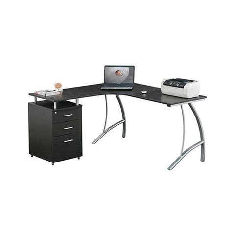 l shaped desk with filing cabinet techni mobili l shape corner desk w file cabinet computer