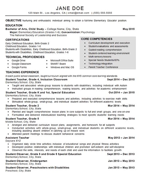 Daycare Resume by Child Care Resume Exle