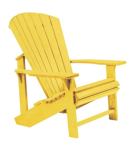 generations yellow adirondack chair from cr plastic c01