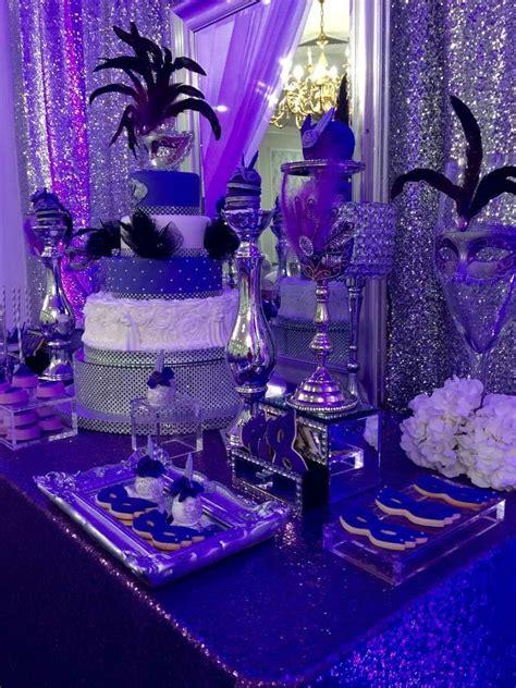 masquerade quinceanera party ideas   dessert