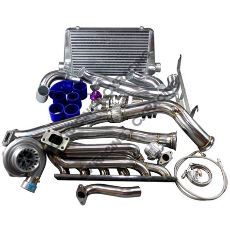 Bmw Turbo Kits by Gt35 Turbo Manifold Downpipe Intercooler Kit For Bmw E46
