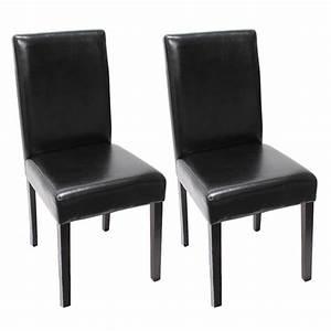 Esszimmerstühle Leder Schwarz : 2x esszimmerstuhl stuhl lehnstuhl littau leder schwarz ~ Watch28wear.com Haus und Dekorationen