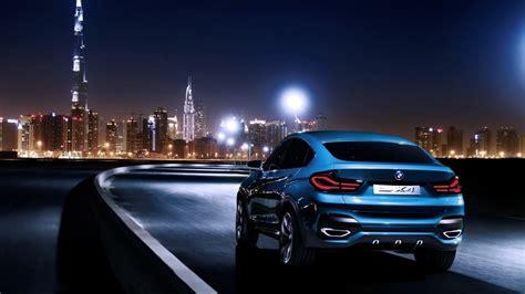 Full Hd Wallpaper Bmw X4 Sedan Speed Night Burj Al Arab