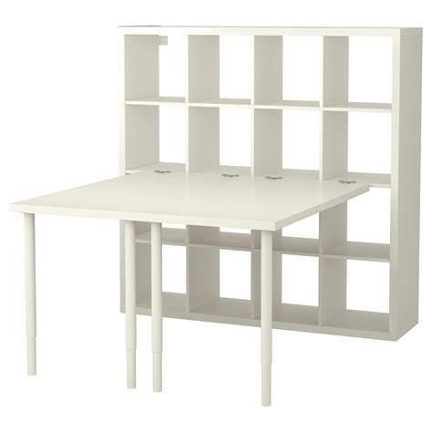 les bureau ikea kallax combinaison bureau blanc 147x147 cm ikea