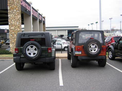 stock jeep vs lifted stock tj vs lifted jk jk forum com the top destination