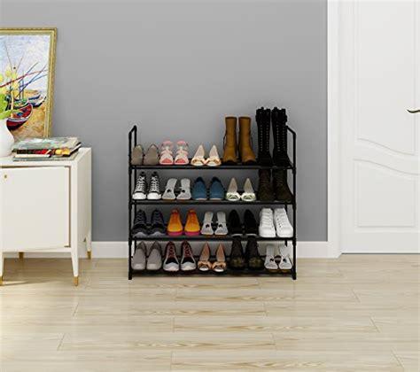 Entryway Cabinet Tower by Homebi 4 Tier Shoe Rack Metal Shoe Tower 20 Pair Shoe