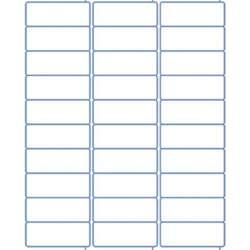 Template For Labels 30 Per Sheet Address Labels Laser Labels Inkjet Labels 2 625 X 1 30 Per Sheet