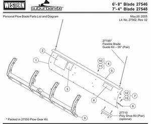 Western Suburbanite Plow Blade Parts