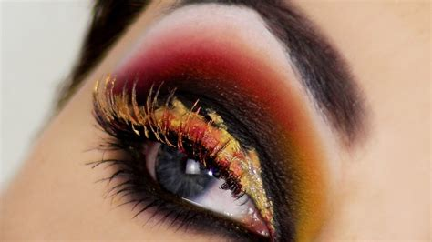 eyes  fire hunger games catching fire inspired makeup