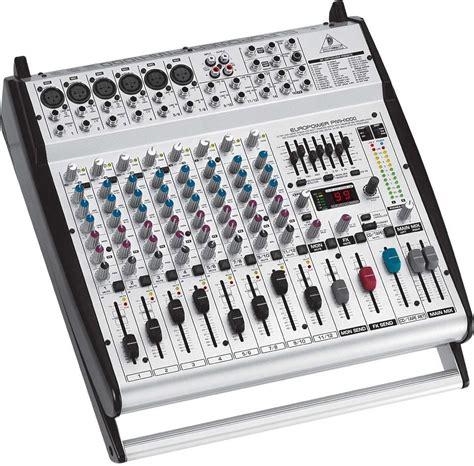behringer pmh  channel powered mixer  fx  watts