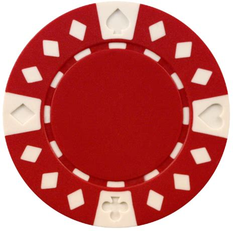 Clay Composite Diamond Suited Poker Chips 50 115 Gram Red