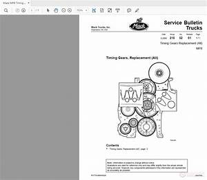 Mack Mp8 Timing Gears Replacement All Service Bulletin