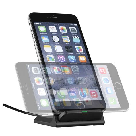 wireless qi fast charging stand pad  iphone  tablet