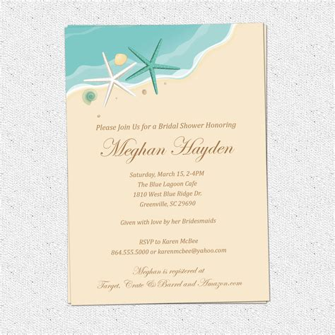 order of wedding program invitations bridal shower birthday sand sea surf