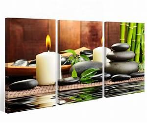 Bilder Feng Shui Steine : leinwand 3 tlg kerze wellness stone bambus steine bild wandbild feng shui 9a403 leinwandbilder ~ Whattoseeinmadrid.com Haus und Dekorationen
