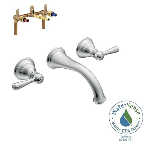 moen kingsley wall mount bathroom faucet moen kingsley wall mount 2 handle low arc bathroom faucet