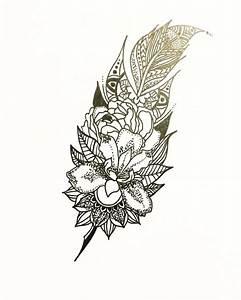 Mandala feather tattoo idea Feathertattoo tattoo design ...
