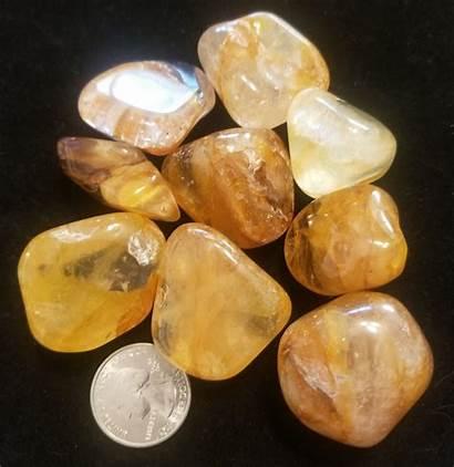 Healer Golden Quartz Properties Crystals Meanings Tumbled