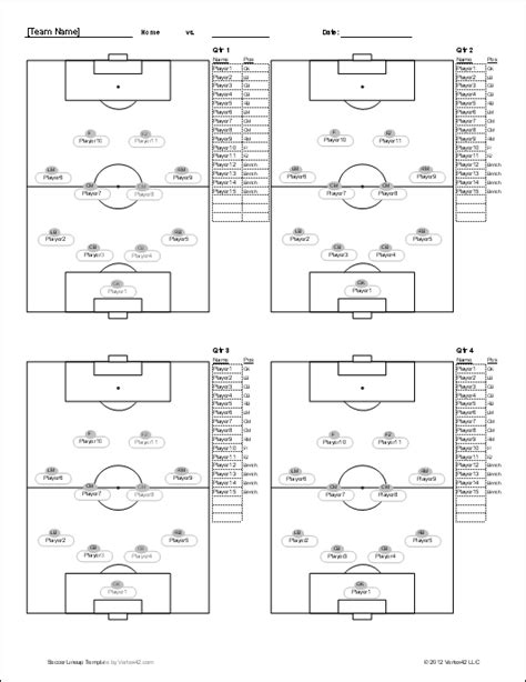 soccer roster template  excel