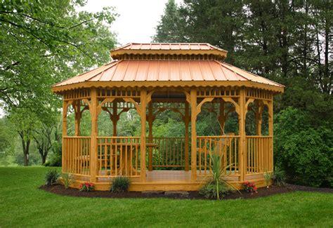 garden wooden gazebo kauffman s gazebos premium vinyl or wood gazebos