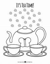 Tea Coloring Pages Getdrawings sketch template