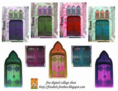 Collage Digital Journal Sheet Doors Freebies Freubels