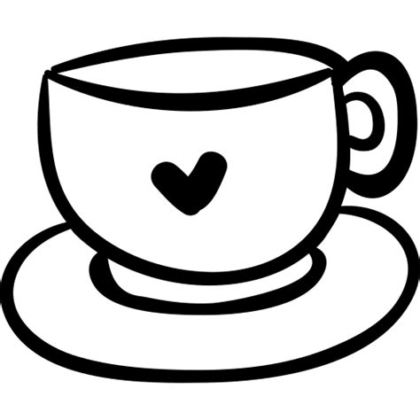 1 svg format files 1 dxf format files 1 png format files. Coffee cup with heart Icons | Free Download