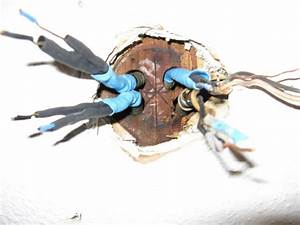 Knob and tube ceiling fan install no junction box