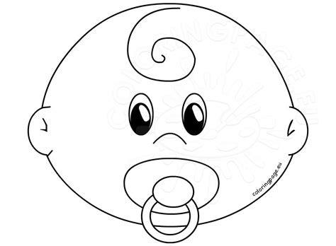 Kleurplaat Dummy by Baby With Pacifier Template Coloring Page