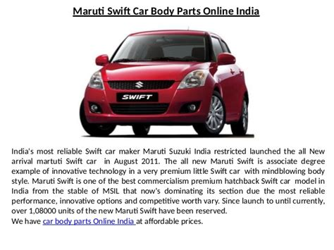 Suzuki Cars Parts by Maruti Suzuki Car Parts India