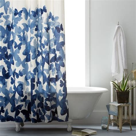 west elm shower curtain mariposa shower curtain contemporary shower curtains