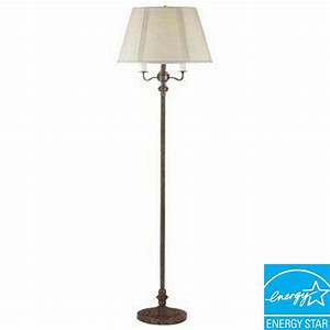 cal lighting 59 in rust metal 6 way floor lamp bo 315 ru With b spline led floor lamp