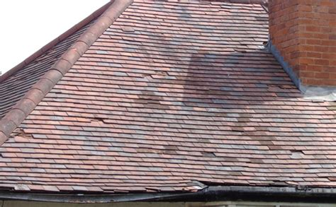slipped broken clay concrete tiles slates replacing roof