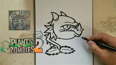 como dibujar al bocadragon plants  zombies