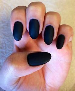 The gallery for --> Black Matte Round Nails